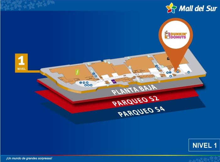 Dunkin' Donuts - Mapa de Ubicación - Mall del Sur