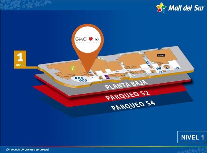 GMO - Mapa de Ubicación - Mall del Sur
