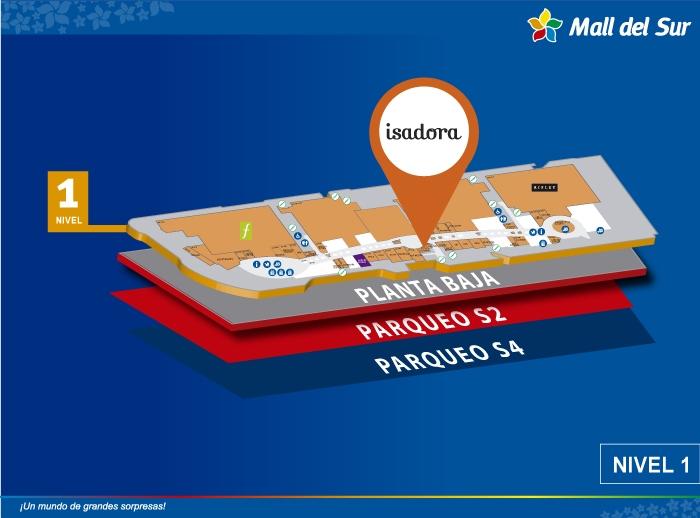 Isadora - Mapa de Ubicación - Mall del Sur