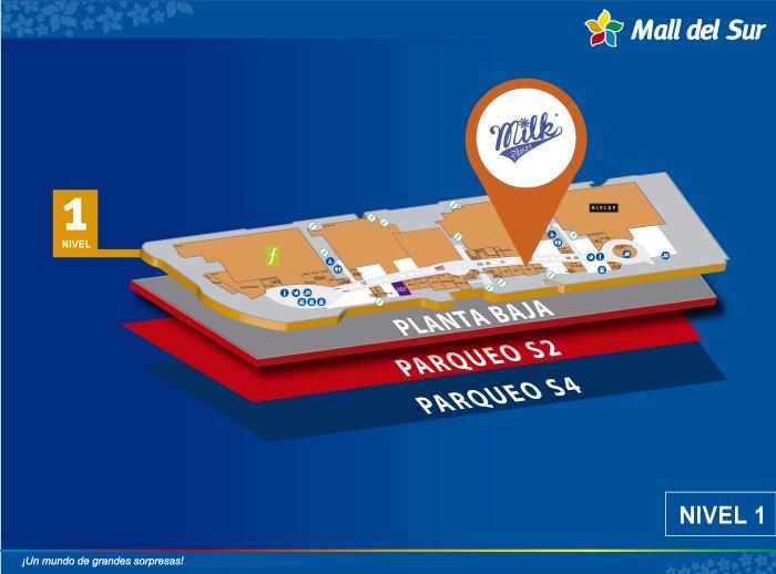 Milk - Mapa de Ubicación - Mall del Sur