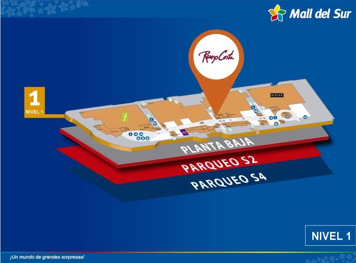Renzo Costa - Mapa de Ubicación - Mall del Sur