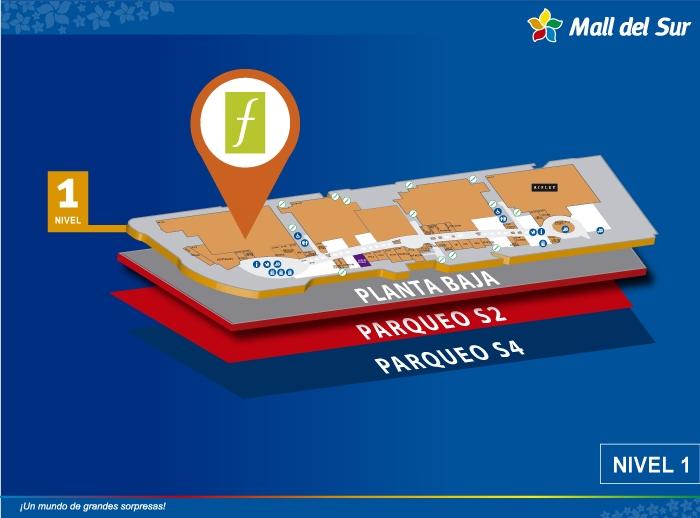 Saga Falabella - Mapa de Ubicación - Mall del Sur