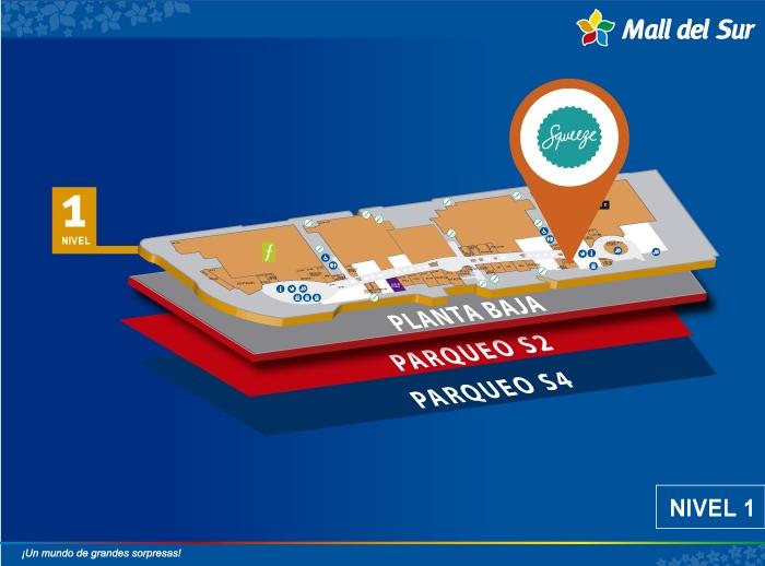 squeeze - Mapa de Ubicación - Mall del Sur