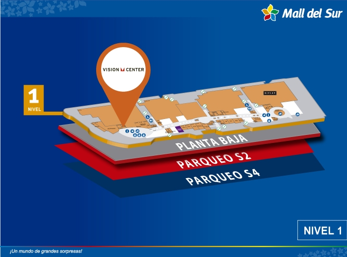 Vision Center - Mapa de Ubicación - Mall del Sur