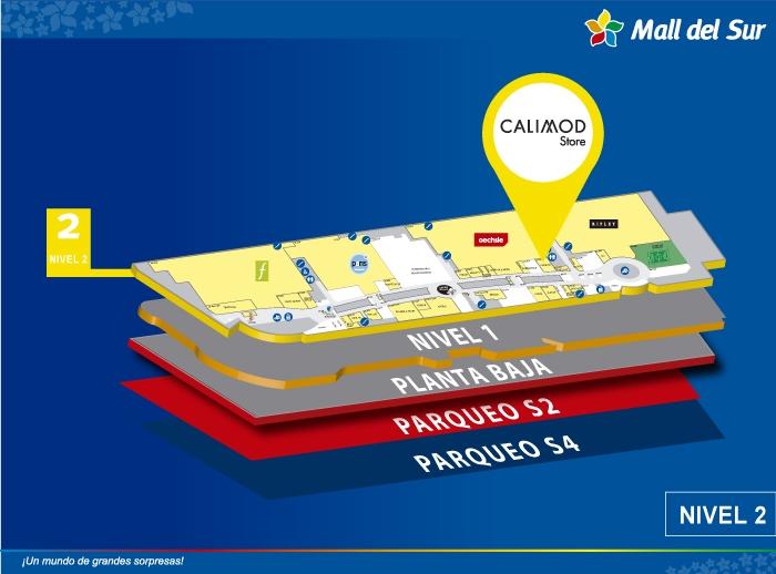 Calimod - Mapa de Ubicación - Mall del Sur