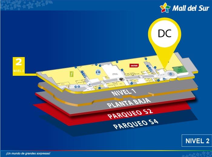 DC - Mapa de Ubicación - Mall del Sur