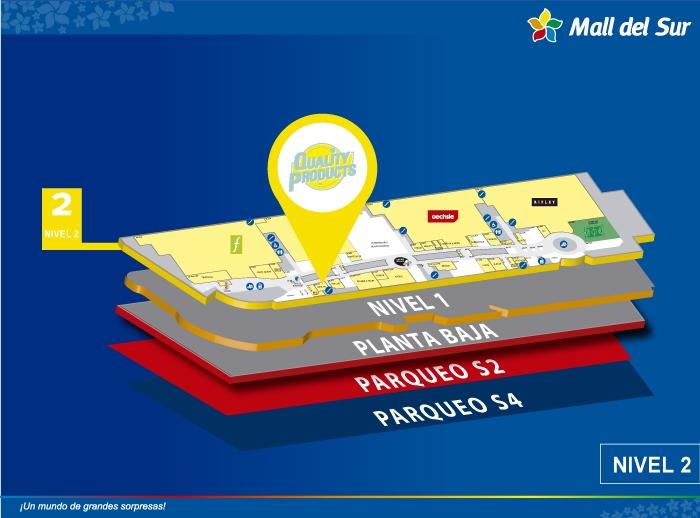 Quality Store - Mapa de Ubicación - Mall del Sur