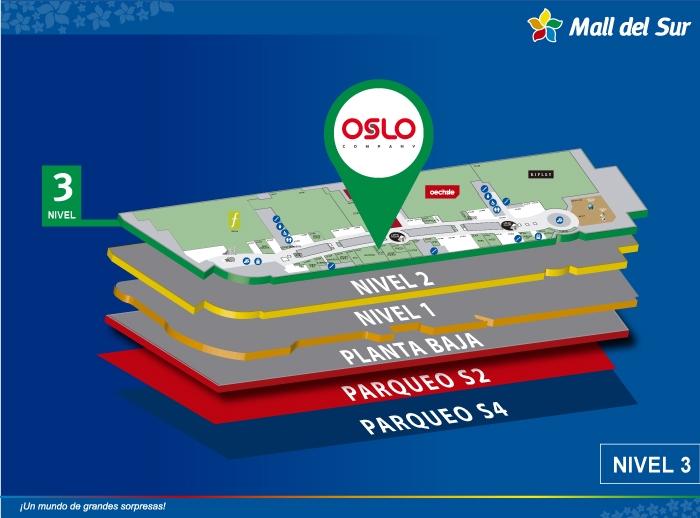 Oslo - Mapa de Ubicación - Mall del Sur