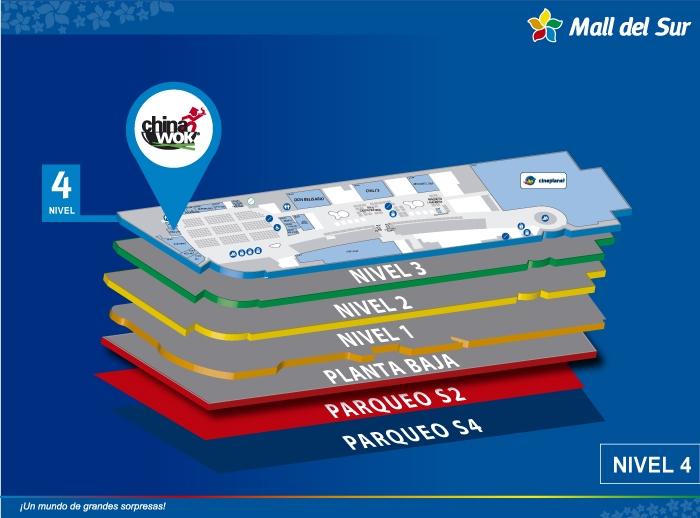 Chinawok - Mapa de Ubicación - Mall del Sur