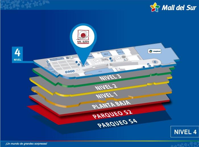 Mr. Sushi - Mapa de Ubicación - Mall del Sur