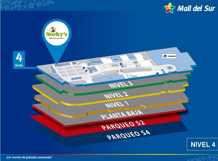 Norky's - Mapa de Ubicación - Mall del Sur