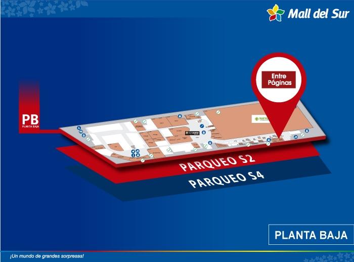 Entre Páginas - Mapa de Ubicación - Mall del Sur
