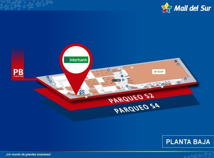 Interbank - Mapa de Ubicación - Mall del Sur