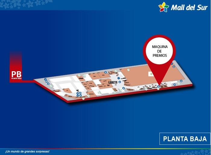 Maquina de Premios - Mapa de Ubicación - Mall del Sur