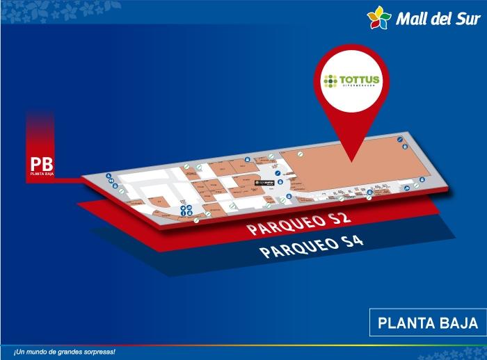 Tottus - Mapa de Ubicación - Mall del Sur