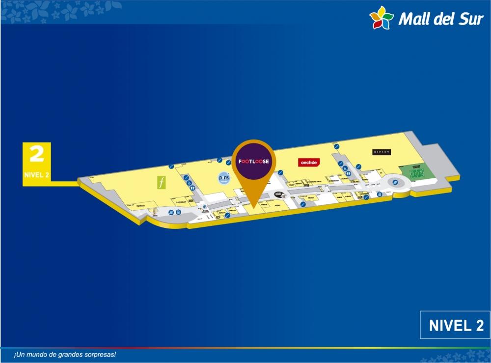 FOOTLOOSE - Mapa de Ubicación - Mall del Sur