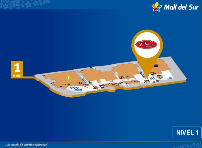 La Ibérica - Mapa de Ubicación - Mall del Sur