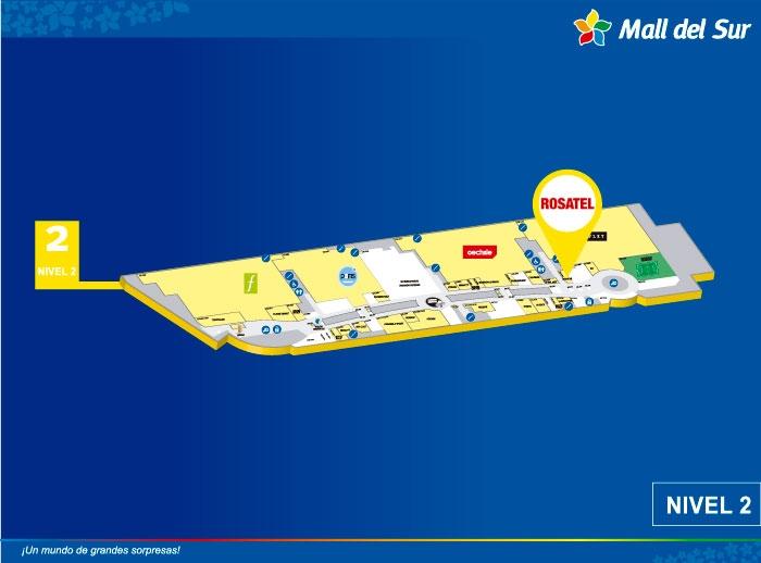 Rosatel - Mapa de Ubicación - Mall del Sur
