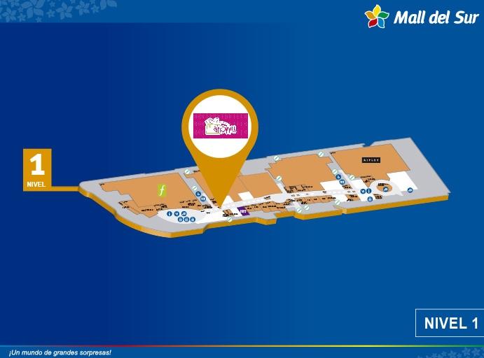 Shoppu - Mapa de Ubicación - Mall del Sur