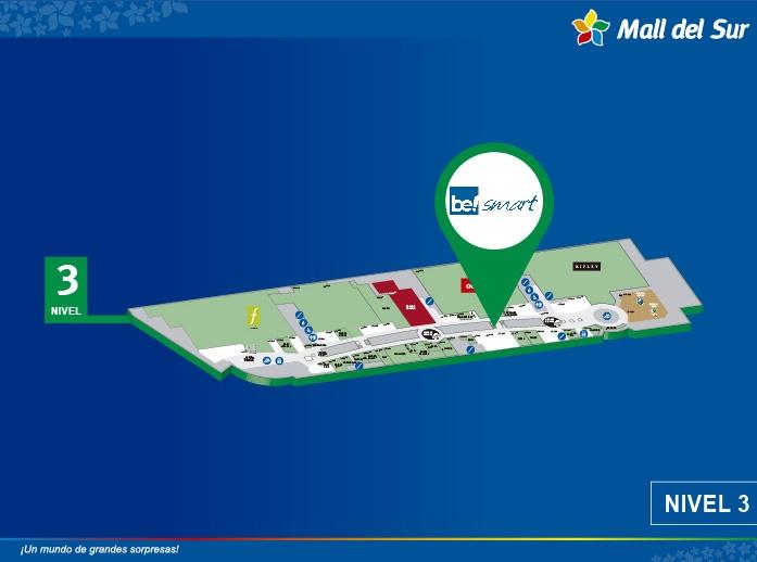 Be Smart - Mapa de Ubicación - Mall del Sur