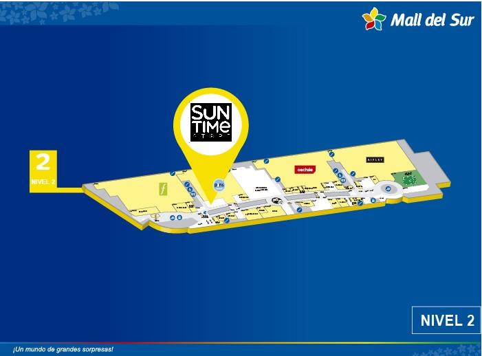 Suntime - Mapa de Ubicación - Mall del Sur