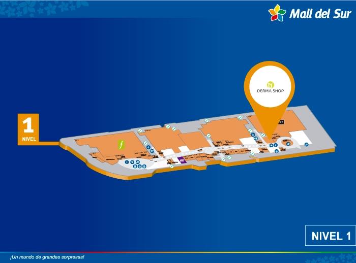 DERMA SHOP - Mapa de Ubicación - Mall del Sur