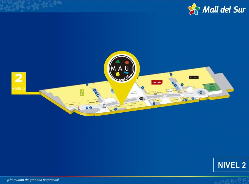 MAUI - Mapa de Ubicación - Mall del Sur