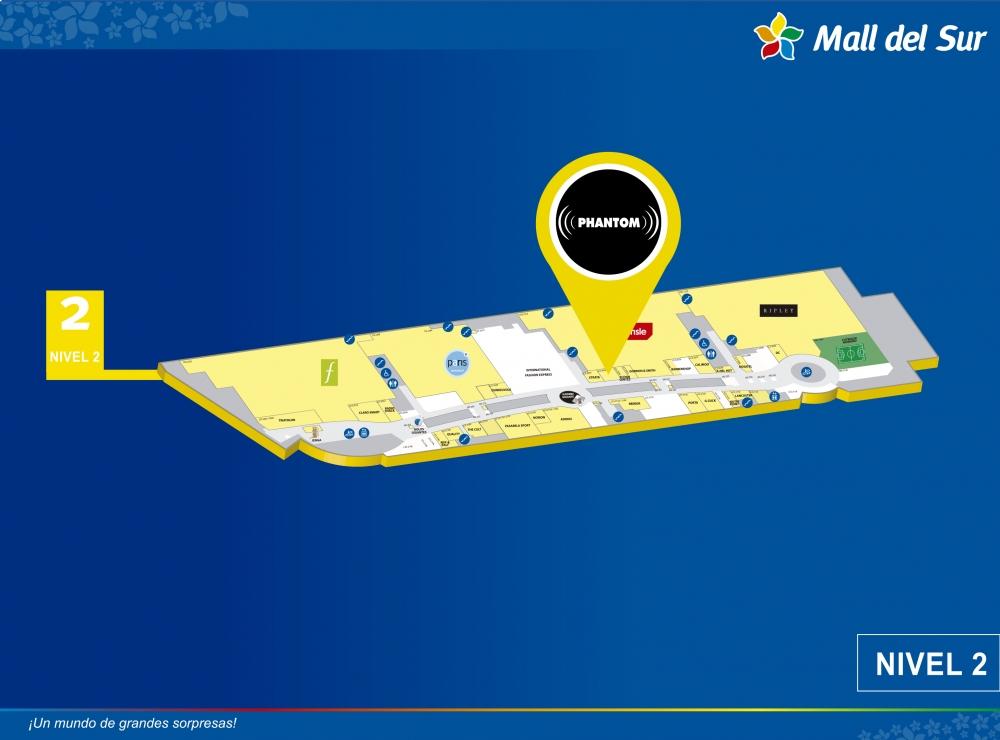 Phantom - Mapa de Ubicación - Mall del Sur
