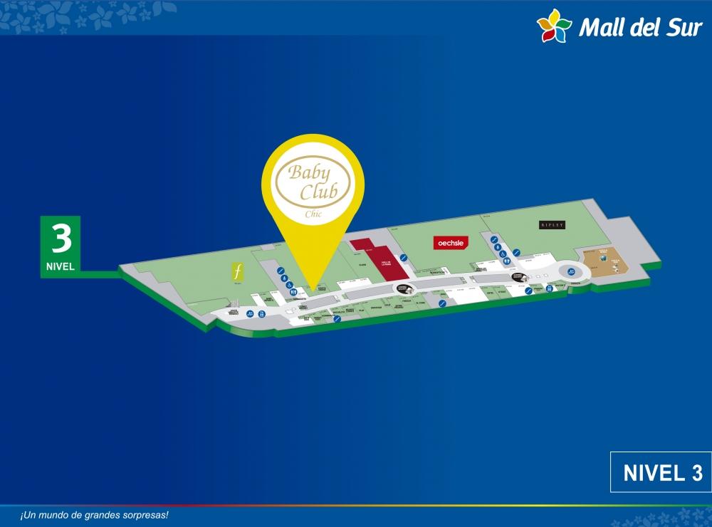 Baby Club Chic - Mapa de Ubicación - Mall del Sur