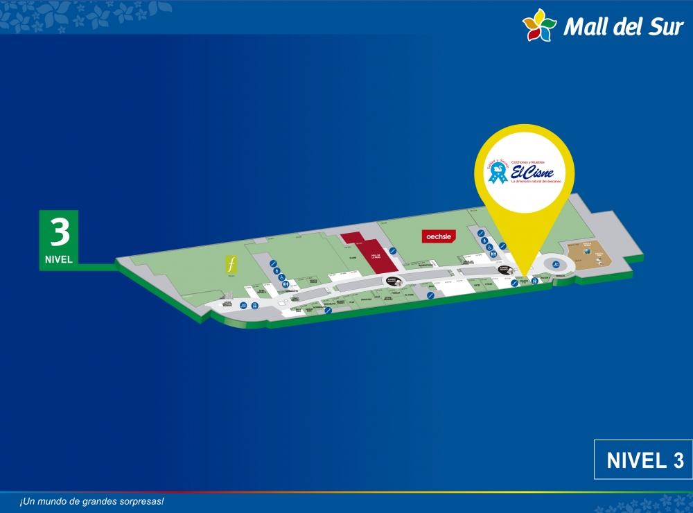 El Cisne - Mapa de Ubicación - Mall del Sur
