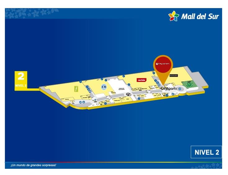 City Sports - Mapa de Ubicación - Mall del Sur