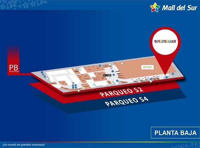 DivertiPlace - Mapa de Ubicación - Mall del Sur
