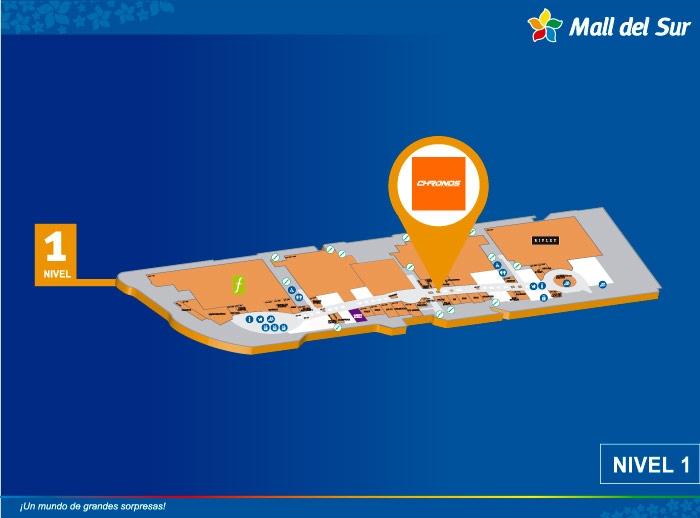 Chronos - Mapa de Ubicación - Mall del Sur