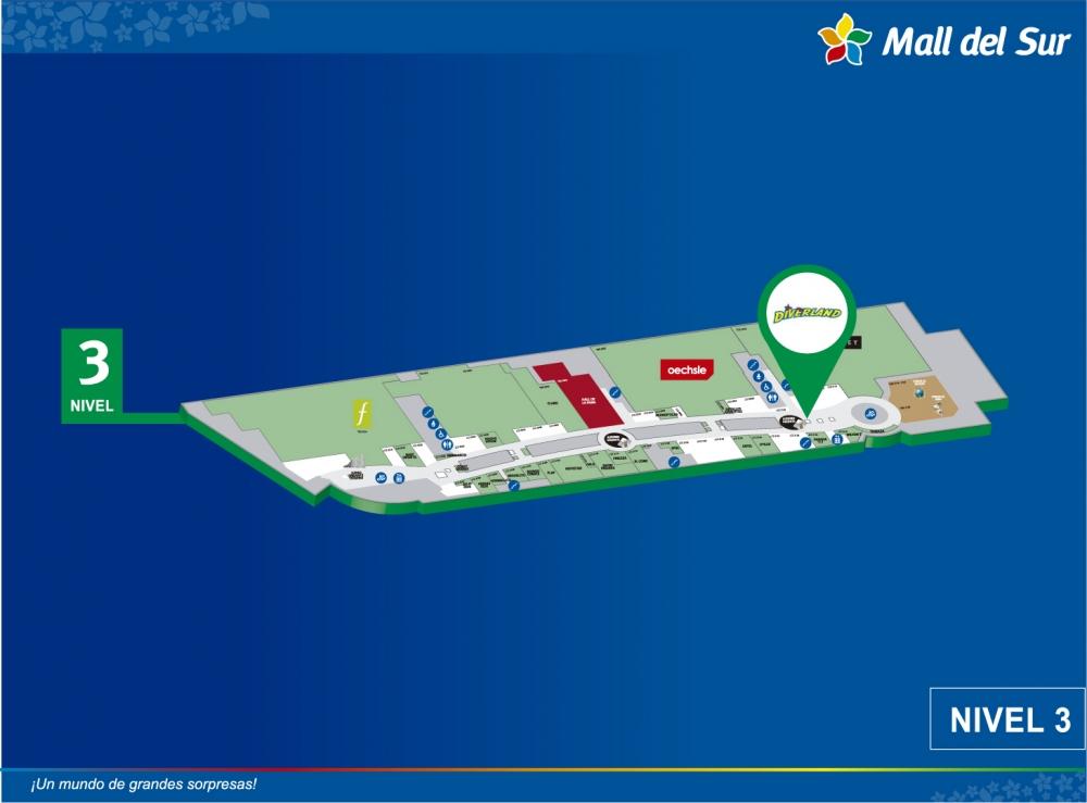 DIVERLAND UP & DOWN - Mapa de Ubicación - Mall del Sur