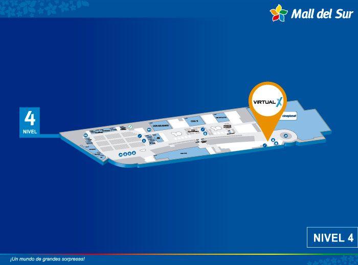 Virtual X - Mapa de Ubicación - Mall del Sur