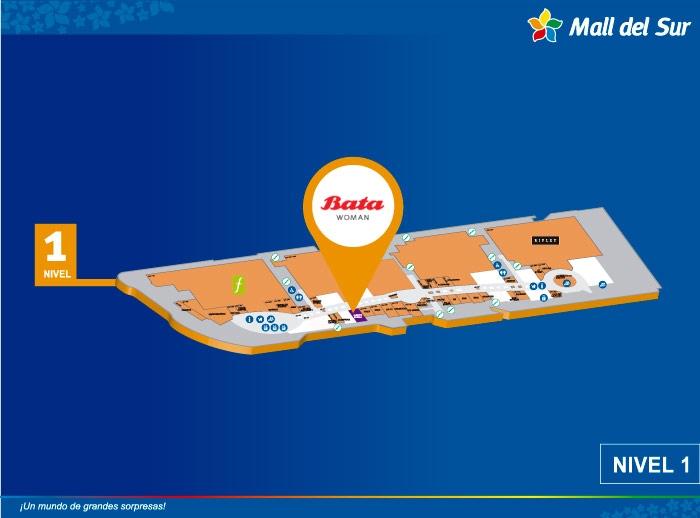 Bata Woman - Mapa de Ubicación - Mall del Sur