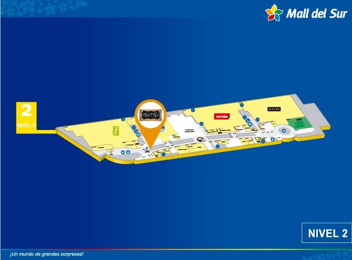 Palettas - Mapa de Ubicación - Mall del Sur