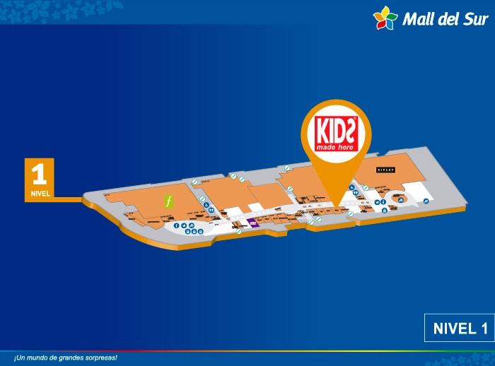 KIDS MADE HERE - Mapa de Ubicación - Mall del Sur