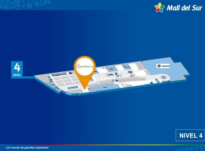 Pinkberry - Mapa de Ubicación - Mall del Sur