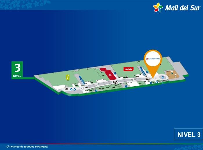 Maquisistema - Mapa de Ubicación - Mall del Sur