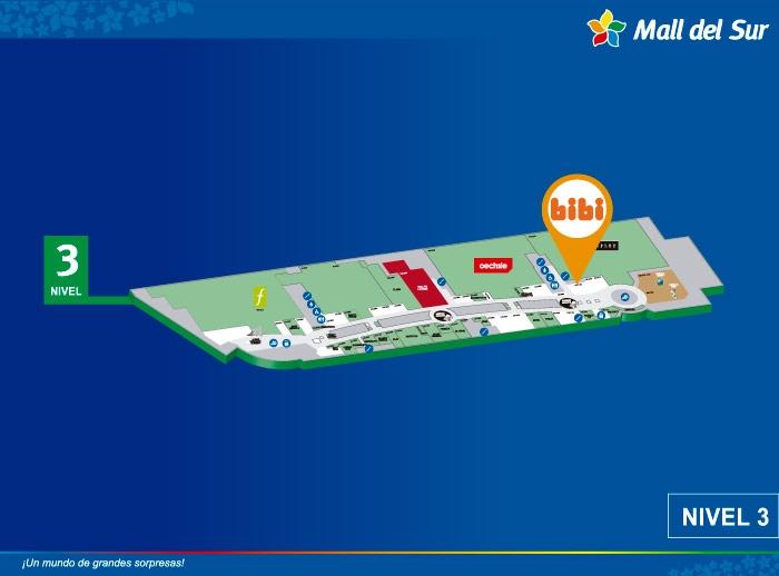 BIBI - Mapa de Ubicación - Mall del Sur