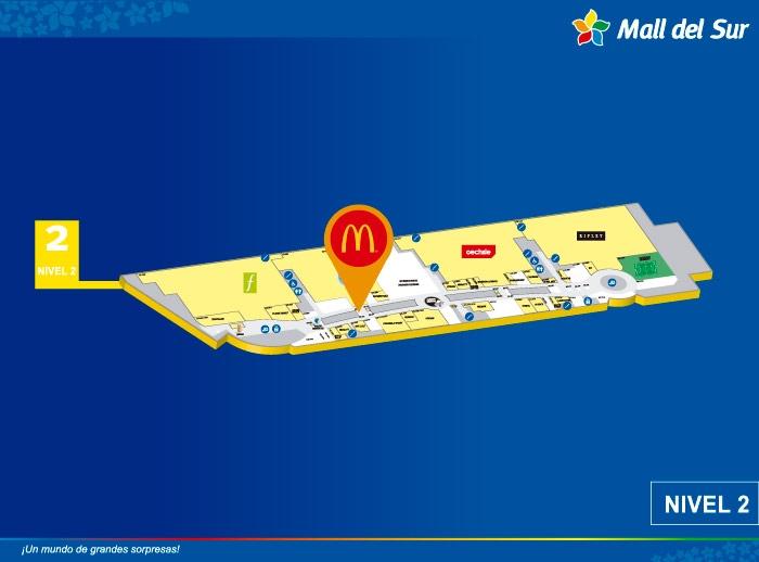 Mc Donalds - Mapa de Ubicación - Mall del Sur