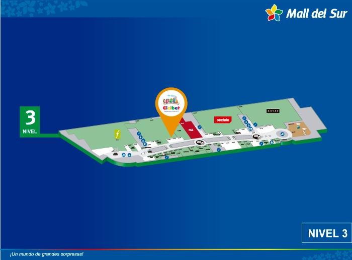 Cicibet - Mapa de Ubicación - Mall del Sur