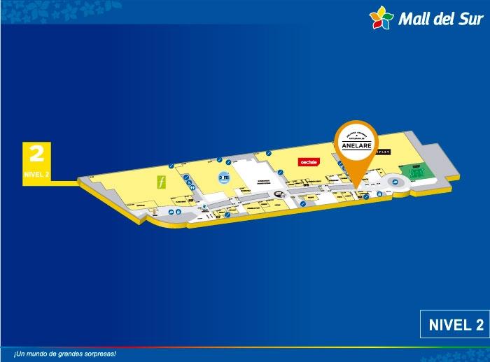 ANELARE - Mapa de Ubicación - Mall del Sur