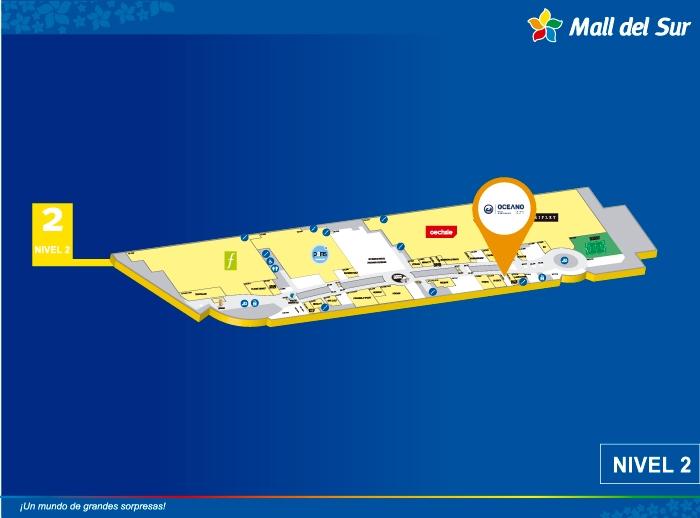 Oceano - Mapa de Ubicación - Mall del Sur