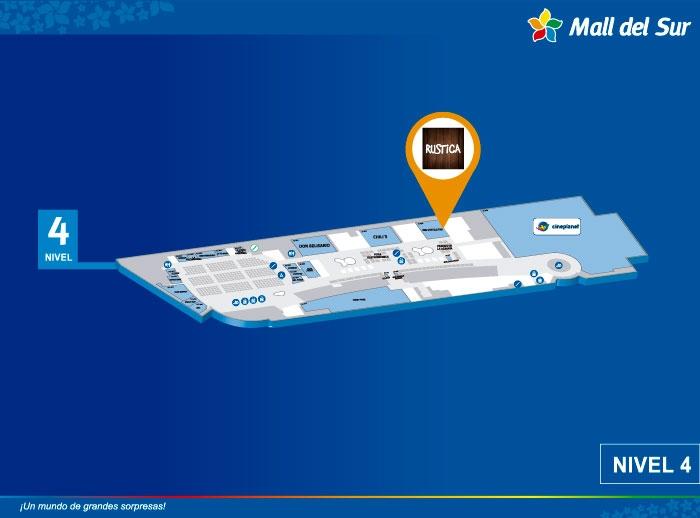 RUSTICA - Mapa de Ubicación - Mall del Sur