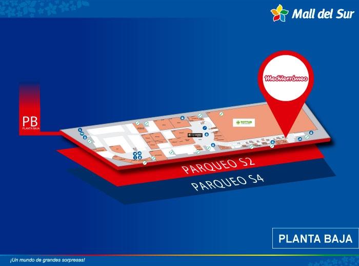 MEDITERRÁNEO (módulo)  - Mapa de Ubicación - Mall del Sur