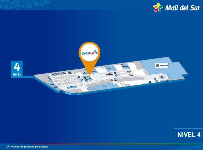 Globalnet - Mapa de Ubicación - Mall del Sur