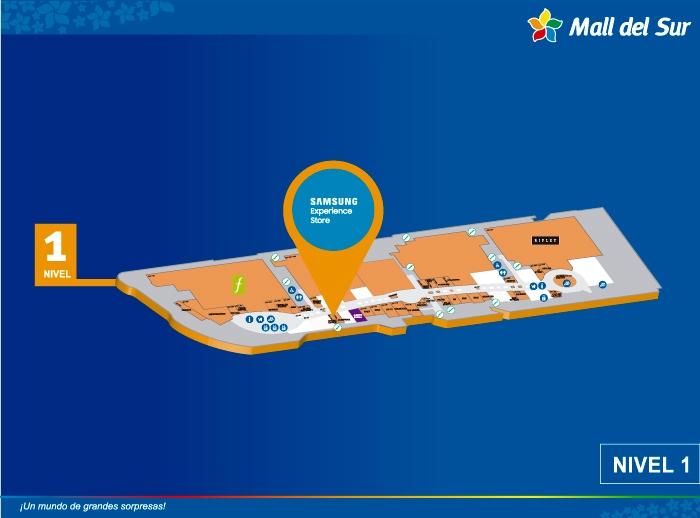 SAMSUNG - Mapa de Ubicación - Mall del Sur