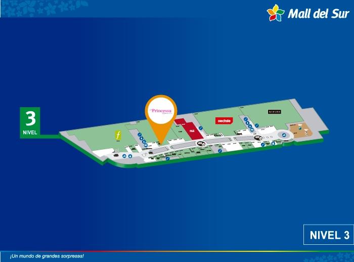 PRINCESSA  - Mapa de Ubicación - Mall del Sur